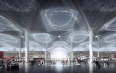 Desain zona check-in bandara baru Istanbul - foto: telegraph.uk