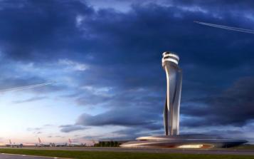 Menara pengawas bandara baru Istanbul - foto: telegraph.uk